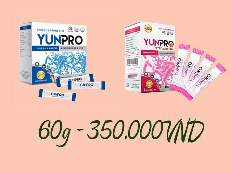 Men vi sinh Yunpro có giá bao nhiêu?