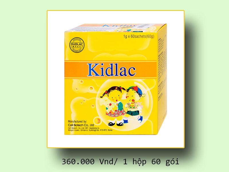 Kidlac chính hãng giá bao nhiêu?