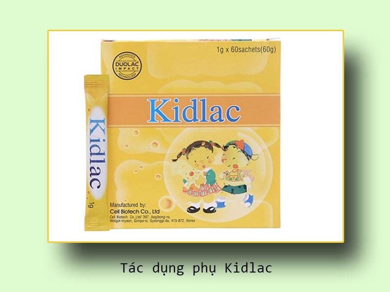Tác dụng phụ Kidlac