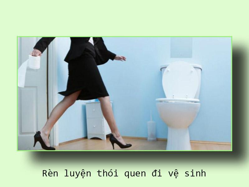 Rèn luyện thói quen đi vệ sinh