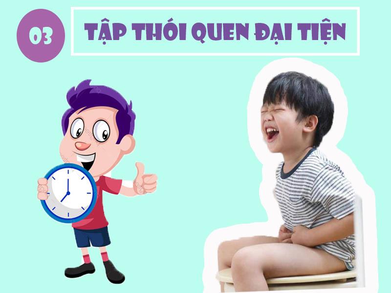 Tập thói quen đại tiện đúng giờ cho trẻ
