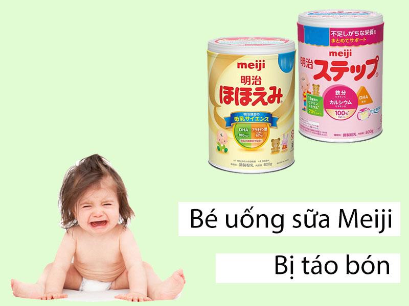 Bé uống sữa Meiji