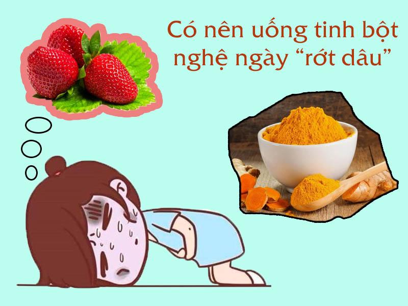 Hình ảnh minh họa: uống tinh bột nghệ khi bị hành kinh