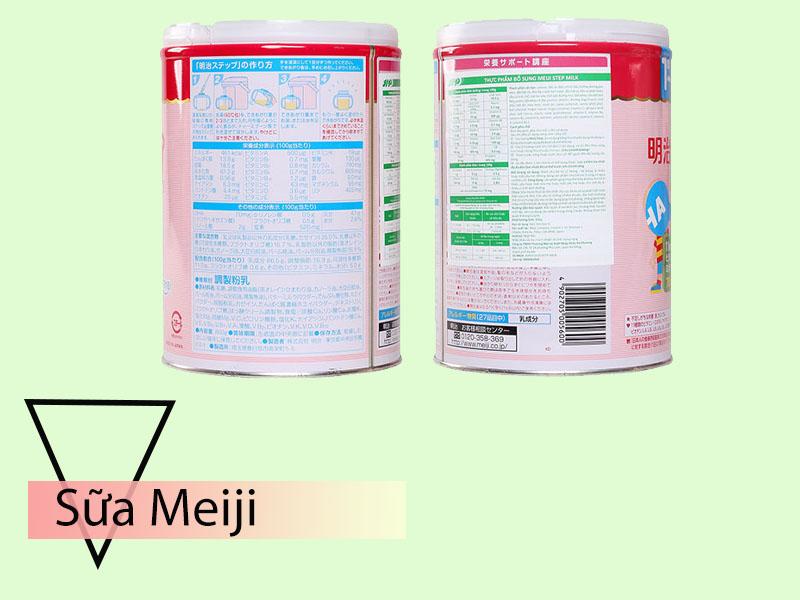Sữa Meiji với thành phần bổ dưỡng cho bé