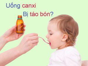 Trẻ sơ sinh uống canxi bị táo bón
